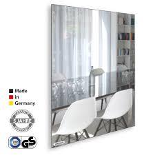 vasner zipris sr spiegel infrarotheizung rahmenlos 400 700 900 watt made in germany