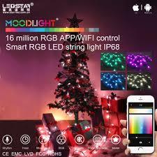 Moodlight Smart Christmas Tree LED RGB String Light Kit APP WIFI Control IP68