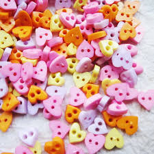 Tiny 2 Hole Heart Button 6 Mm 100 Pcs Assorted Colors For Etsy