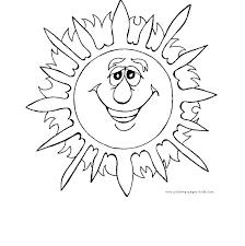 Preschool Coloring Pages Printable Summer Activities