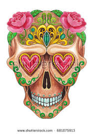 Easy Sugar Skull Day Of by Day Of The Dead Skull Stock Images Royalty Free Images U0026 Vectors