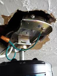 install or replace a ceiling fan hunter mounting bracket