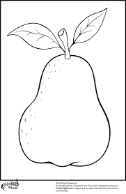 Pears Coloring Pages Minister