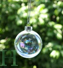 Christmas Tree Amazon Uk by 12pcs Clear Iridescent Glass Christmas Baubles Ball Ornament 6cm