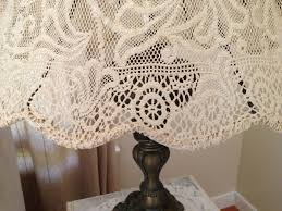 Restored Treasures Too DIY Lampshade Using An Antique Lace Tablecloth