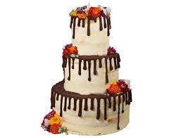 drip cake mit essbarem blüten