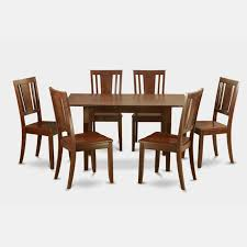 East West Furniture Norfolk 7 Piece Scotch Art Dining Tab