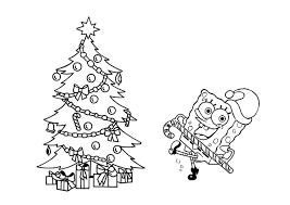 Printable Christmas Cards For Children To Color Spongebob Coloring