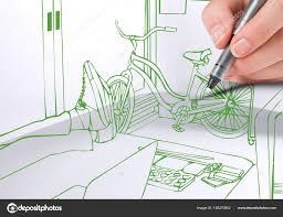 lignes bureau 3d dessinant des lignes bureau vert photographie