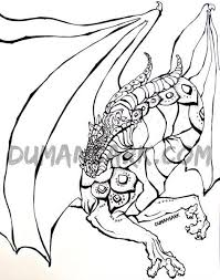 DRAGON Adult Coloring Book Page