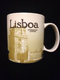 Starbucks Lisboa Portugal Mug Icon Lisbon Coffee Belem April Bridge New US Ship