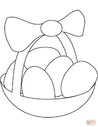 Click The Easter Basket With Eggs Coloring Pages To View Printable Version Or Color It Online Compatible IPad And Android Tablets