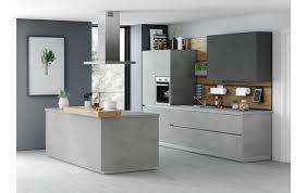 trendige küchenzeile ka 52 210 mit kochinsel in beton nachbildung