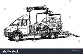 100 Tow Truck Vector Drawing Stock Royalty Free 299481215