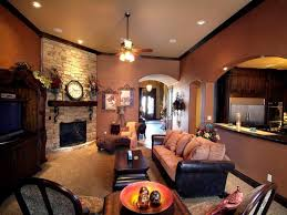 Pleasurable Rustic Colors For Living Room Dazzling Design Brick Wall Wondrous Paint Hanging Lamp And