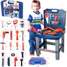 69pc kids work bench tool box kit construction set toy diy drill