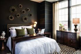 Paint Thin Gold Stripes Onto One Of Your Black Walls To Add Brightness Bedroom