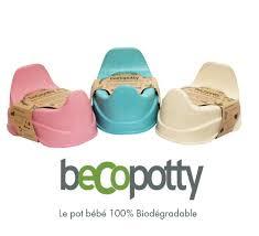 becopotty le pot bébé biodégradable actufraise