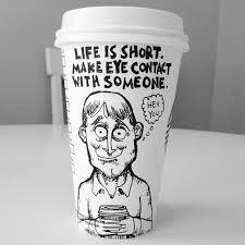 Comics Starbucks Coffee Cup Art Yoyoha 3