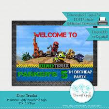 100 Dino Trucks Inspired Printable Welcome Sign Cartel Etsy