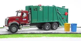 Bruder - MACK Granite Garbage Truck (Red/Green), 70 Cm | PlayOne
