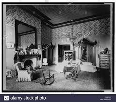 schlafzimmer im weißen haus washington d c stockfotografie