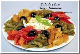 cuisiner les poivrons verts salade de poivrons