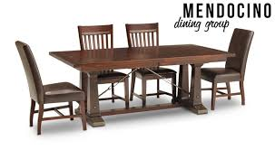 Mendocino Dining Group Oak Express Furniture Row On Room Sets