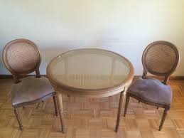 Pair Of Regency Style Round Cane Back And Upholstered Walnut Side Chairs:  South San Francisco | Trove Market Pair Of Regency Style Round Cane Back And Upholstered Walnut Side Chairs South San Francisco Trove Market Louis Xv Style Living Room Suite Thrifty Under 50 How To Paint Wood Cane Back Chairs Ncepcionlucaco Nilkamal Fniture Hancock Moore Living Room Somerset Chair Han1347 Walter E Smithe Design Popular Weatherproof Wicker Patio 39 Our Favorite Accent 500 Rules Beville Couches Kitchen Ding For Sale Table And Din Rustique Restoration Vintage
