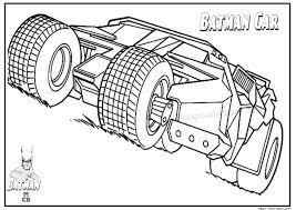 Batman Car Free Printable Coloring Pages 01
