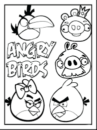 Angry Birds Printable Coloring Pages Kids Page Space Eastern Bluebird Blue Bird Free