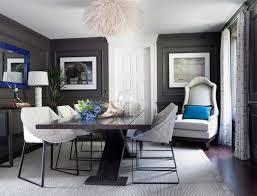 The Dark Gray Dining Room Modern Design 2019 Color Trends