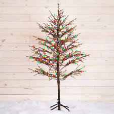 5 Ft Pre Lit Multicolor Christmas Tree by Ge 5 Ft Pre Lit Led Brown Winter Berry Branch Tree With C4 Color