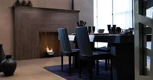 Simple And Minimal Modern Fireplace In The Dining Room
