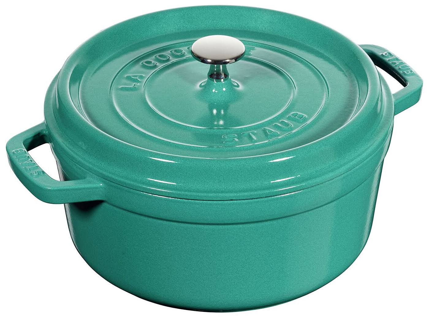 Staub 4qt Round Dutch Oven - Turquoise - Limited Edition