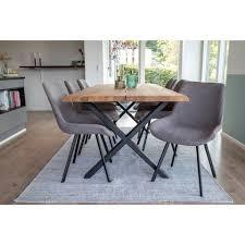 ebuy24 essgruppe tony essgruppe 1 esstisch und 6 stühle grau kaufen otto