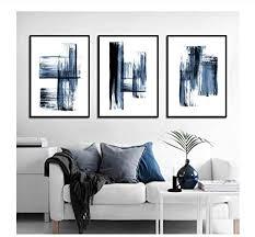 yhsm wohnzimmer dekoration nordic abstract dunkelblaue tinte