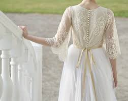 Rustic Wedding Dress Country Boho Flutter Sleeve Bridal Gown