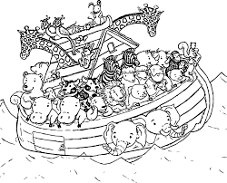 Noahs Ark Coloring Page Noah Ship 004 Wecoloringpage Animal Gallery Ideas