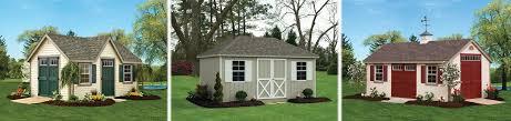 custom amish storage sheds vinyl painted wood lehigh valley