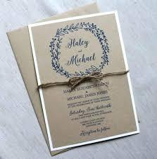 Rustic Wedding Invite Elegant Letterpress Gold Foil