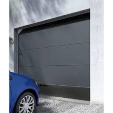 porte de garage sectionnelle londres grise castorama
