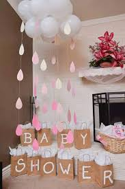 baby shower or bridal shower cloud and raindrops beautiful to put