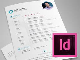 Hexagon Resume CV Indesign Template