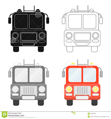 100 Single Unit Truck Fire Icon Cartoon Silhouette Fire Equipment Icon From