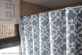 Gray Sheer Curtains Bed Bath And Beyond by How To Make Any Curtain Into A Shower Curtain Jenna Burger