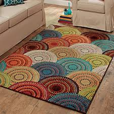 Walmart Outdoor Rugs 5 X 7 by Better Homes And Gardens Bright Dotted Circles Area Rug Or Runner
