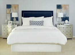 White Velvet King Headboard by Gray Velvet Upholstered King Bed