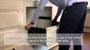 Hon Vertical File Cabinet Drawer Removal by Bisley Lateralfile Fit And Remove Drawer Slides And Anti Tilt