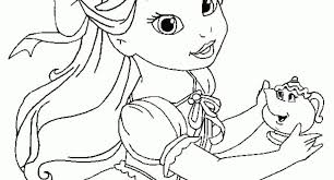 Top Coloring Disney Baby Princess Pages For Of Archives
